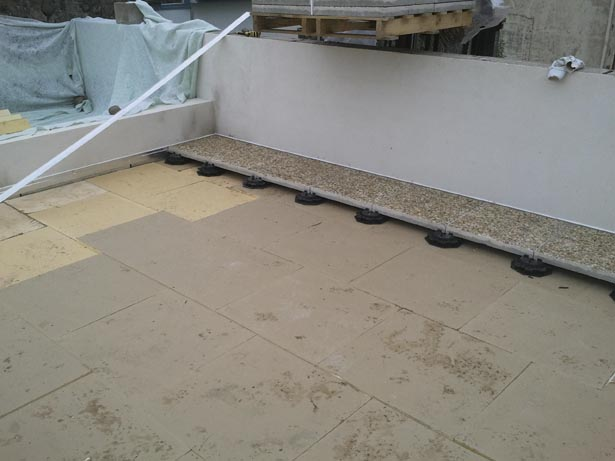 Prestations efficass for Terrasse en dalle beton sur sable